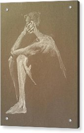 Kroki 2015 06 18_9 Figure Drawing White Chalk Acrylic Print
