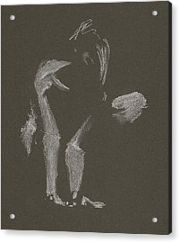 Kroki 2015 10 03_10 Figure Drawing White Chalk Acrylic Print