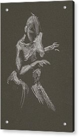 Kroki 2015 10 03_12 Figure Drawing White Chalk Acrylic Print