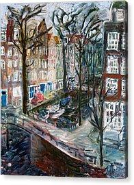 Kromboom Sloot Acrylic Print by Joan De Bot