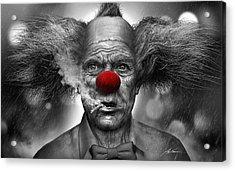 Krusty The Clown Acrylic Print by Alex Ruiz