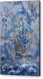 Kuan Yin And Dragon  Acrylic Print by Silk Alchemy