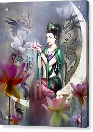 Kuan Yin Lotus Of Healing Acrylic Print by Stephen Lucas