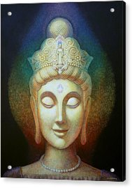Kuan Yin's Light Acrylic Print by Sue Halstenberg