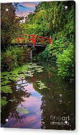 Kubota Gardens Bridge Number 1 Acrylic Print by Inge Johnsson