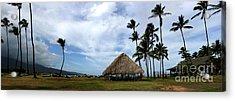 Kukulu Hale Kahului Maui Hawaii Panorama Acrylic Print by Sharon Mau