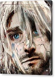 Kurt Cobain - Verse Chorus Hearse Acrylic Print by Sam Kirk