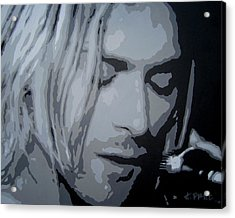 Kurt Cobain Acrylic Print by Ashley Price