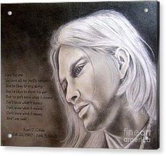 Kurt Cobain Acrylic Print by Oscar Arauz