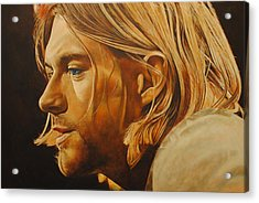 Acrylic Print featuring the painting Kurt Cobain Unplugged by David Dunne