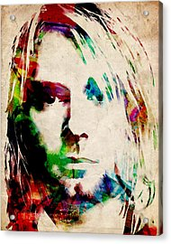 Kurt Cobain Urban Watercolor Acrylic Print