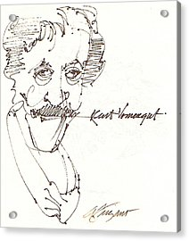 Kurt Vonnegut Acrylic Print by Donna Frizano Leonetti