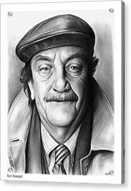 Kurt Vonnegut Acrylic Print by Greg Joens
