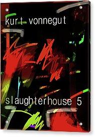 Kurt Vonnegut Poster  Acrylic Print