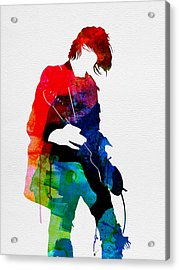 Kurt Watercolor Acrylic Print by Naxart Studio