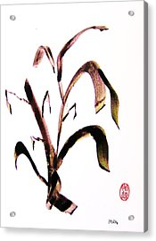 Acrylic Print featuring the painting Kusa No Ha by Roberto Prusso
