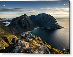 Acrylic Print featuring the photograph Kvalvika Beach by James Billings