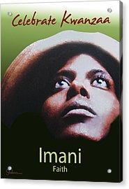 Kwanzaa Imani Acrylic Print