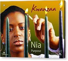 Kwanzaa Nia Acrylic Print by Shaboo Prints