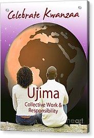 Kwanzaa Ujima Acrylic Print