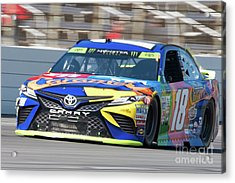 Kyle Busch Coming Out Of Turn 1 Acrylic Print
