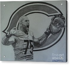 Kyle Long Of The Chicago Bears Acrylic Print