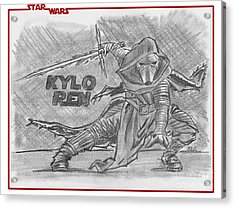 Kylo Ren The Force Awakens Acrylic Print by Chris DelVecchio