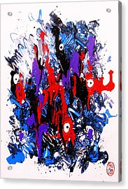 Acrylic Print featuring the painting Kyodai Ika No Hokaku by Roberto Prusso