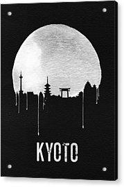 Kyoto Skyline Red Acrylic Print by Naxart Studio