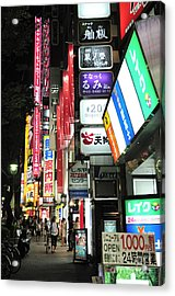 Kyoto Street Neon Signs Acrylic Print by Andy Smy