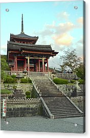 Acrylic Print featuring the photograph Kyoto Temple by Corinne Rhode