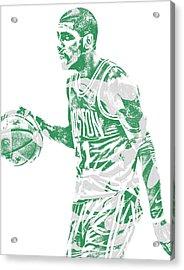 Kyrie Irving Boston Celtics Pixel Art 40 Acrylic Print
