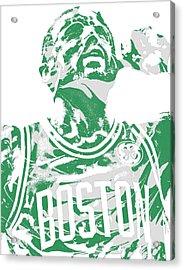 Kyrie Irving Boston Celtics Pixel Art 41 Acrylic Print
