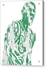 Kyrie Irving Boston Celtics Pixel Art 42 Acrylic Print