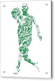 Kyrie Irving Boston Celtics Pixel Art 43 Acrylic Print