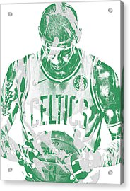 Kyrie Irving Boston Celtics Pixel Art 5 Acrylic Print