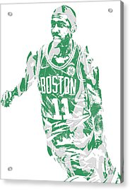 Kyrie Irving Boston Celtics Pixel Art 6 Acrylic Print