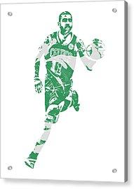 Kyrie Irving Boston Celtics Pixel Art 60 Acrylic Print