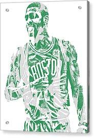 Kyrie Irving Boston Celtics Pixel Art 7 Acrylic Print