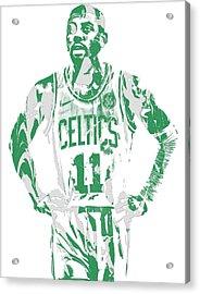 Kyrie Irving Boston Celtics Pixel Art 8 Acrylic Print