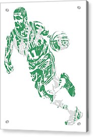 Kyrie Irving Boston Celtics Pixel Art 9 Acrylic Print