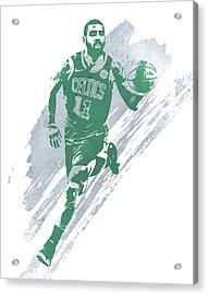 Kyrie Irving Boston Celtics Water Color Art 4 Acrylic Print