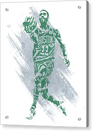 Kyrie Irving Boston Celtics Water Color Art Acrylic Print