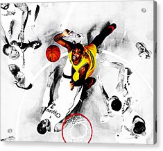 Kyrie Irving Acrylic Print by Brian Reaves