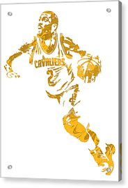 Kyrie Irving Cleveland Cavaliers Pixel Art 11 Acrylic Print