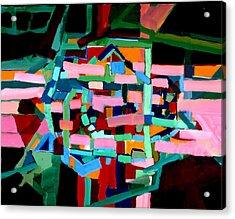 L A Landscape Acrylic Print by Paul Freidin