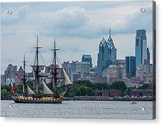 L Hermione Philadelphia Skyline Acrylic Print
