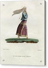 L Ile Guam Femme Allant A  L Eglise Acrylic Print