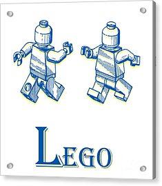 L Is For Lego Acrylic Print by Edward Fielding