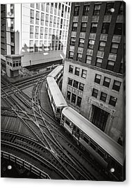 L Train In Chicago Acrylic Print